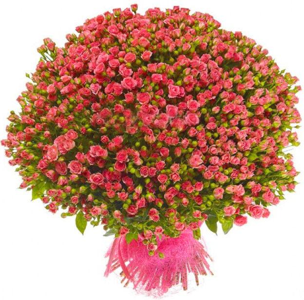 фото букеты из мелких роз