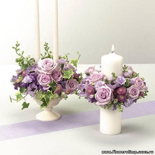 Украшение на стол из искусственных цветов своими руками